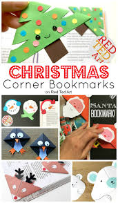 Cool Bookmark Designs To Make Easy Christmas Bookmark Ideas For Kids Red Ted Art
