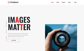 Proshoot Free Html5 Photography Website Template