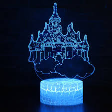 Romantic Lighting Us 15 86 40 Off Home Office Atmosphere Decor Creative 3d Nightlight Led Colorful Cloud Castle Table Lamp Usb Romantic Lighting Lighting Fixture In