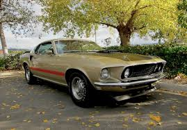 1969 Ford Mustang Mach 1 428 Cobra Jet in rare champagne gold ...