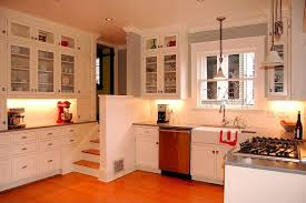 5 Tags Modern Kitchen With Glass Front Cabinets, Silver Gray Solid Surface  Countertop, Corian, Inset