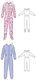 Adult Onesie Pattern Amazing Adult Onesie Free Pajama Sewing Pattern For Adults AA Sewing