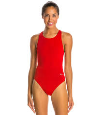 Ocean Racing By Dolfin Solid Performance Back One Piece Swimsuit
