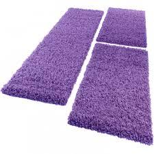 bedside 3 part carpet runner set gy carpet in purple 001