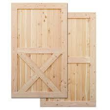 x brace barn door front and back