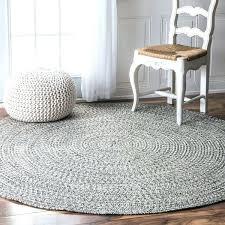 6 foot round rug handmade casual solid braided floor runners