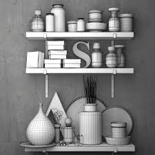 Kitchen Accessory Decorative Set For The Kitchen Vintage Kitchen Accessories 3d