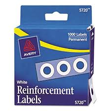 avery hole reinforcements white 1000 pack pk ave05720