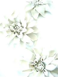 ceramic flower wall decor porcelain clematis flowers for table or ceiling target a blue white als