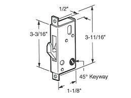 discontinued mortise lock 45 slot arcadia sliding glass door
