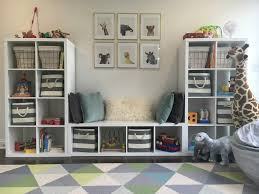 Ikea Toy Organizer Playroom Toddler Room Baby Animals Blue Gray White Gold Ikea