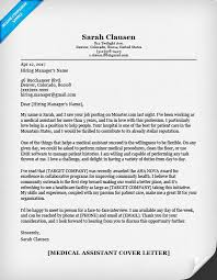 Medical Assistant Cover Letter  Medical Assistant Resume Sample