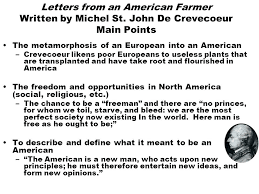 letters from an american farmer and essay letters from an american  letters