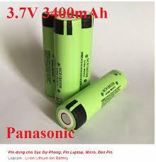 Pin 18650 panasonic 3.7v 3400mAh dùng cho đèn Pin Sạc Dự Phòng Pin Laptop  Micro Đèn Pin Pin mới 100%