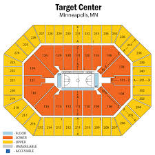 Target Center Seating Chart Views And Reviews Minnesota