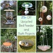 25 upcycled bird feeders baths