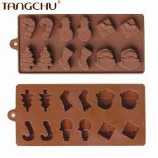 Decorative Ice Cube Trays Hot Christmas Series Theme Candy Silicone Decorating Molds Ice 39