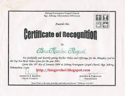 Sample Certificate Of Recognition For Top Students Inspirations Of