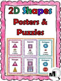 2d Shapes Anchor Chart 2d Shape Anchor Charts With Attributes Real World Examples Puzzles