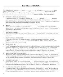 Free Printable Rental Agreement Extraordinary Equipment Lease Agreement Template Download Lccorpco