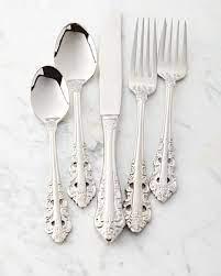 wallace silversmiths 65 piece antique