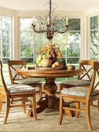santa fe round dining table chairs