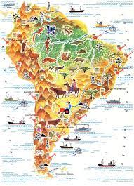 Южная Америка страны горы леса Карта Южной Америки