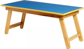 simarr solid wood study table finish color blue