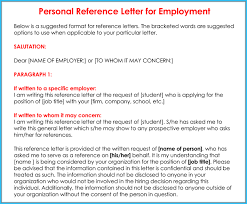 character letter of recommendation for a job personal reference letter 11 samples formats writing tips