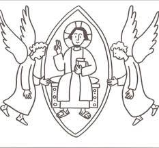 Kinderwoorddienst Kleurplaten Christus Koning Kroon En Inri