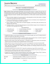Superintendent Resume Sample Construction Superintendent Resume Can Be In Simple Design But It 22