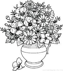 Rose Flower Coloring Pages Coloring Pages For Kids Flowers Free