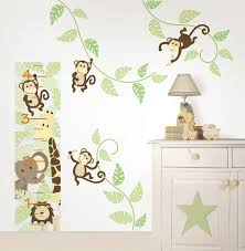 Monkey Bedroom Decorations Monkeying Around Wall Art Kit By Wallpops Poptalk