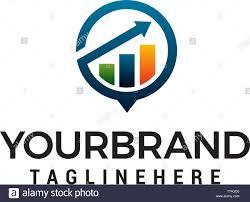 Growth Logo Design Arrow Financial Growth Logo Design Concept Template Vector
