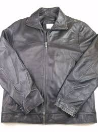 g17 wilson s leather jacket size medium full zip genuine leather color black from wilsons leather