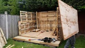 Tiny Pallet House or Cabin  DIY Tutorialinstalling the side walls