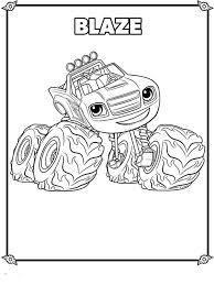 Blaze And The Monster Machines Coloring Page Coloring Pages For Kids