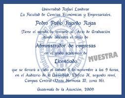 Invitaciones Exclusivas Graduacion Universidad