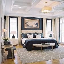 navy master bedroom decor