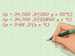 how to calculate specific heat