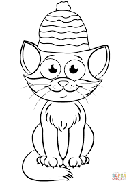 Christmas Cat Coloring Page With Free Printable Pages Printable