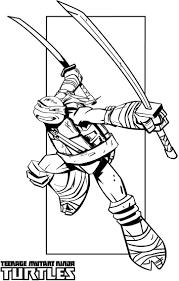 Teenage Mutant Ninja Turtles Coloring Pages Illustrations Turtle