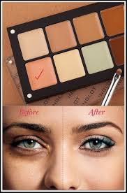 tired of those stubborn dark circles and bags showing through your makeup use a concealer with a peach undertone under you eyes first as a corrector to