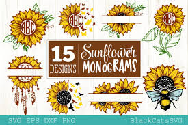 The files you will receive will be provided is 6 creative sunflower bundle pack in svg files. 496 Sunflower Svg Designs Graphics