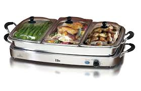 food warmer dish electric buffet server stainless steel food warmer chafing dish 3 tray table top food warmer dish