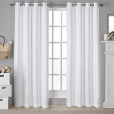 Keysville Twill Solid Blackout Grommet Curtain Panels (Set of 2)