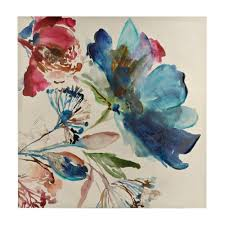 on watercolor floral wall art with turquoise watercolor floral canvas art print kirklands