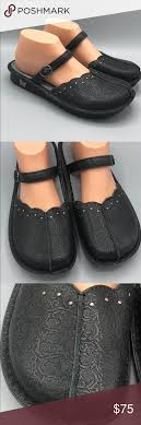 alegria tuscany black 40 us 9 9 5 mary jane mule very gently preowned stroll straight