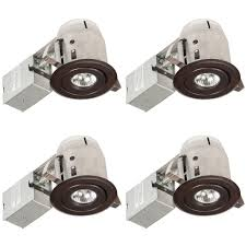 globe electric 3 in oil rubbed bronze swivel recessed lighting kit 4