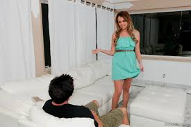 Wild girl Alexis Adams takes on a dude and gets fucked up her.